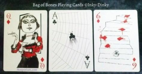 Bag of Bones: Queen of Diamonds, Ace of Clubs, & 6 of Diamonds.