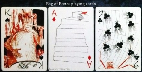 Bag of Bones: King of Spades, Ace of Diamonds, & 9 of Clubs.