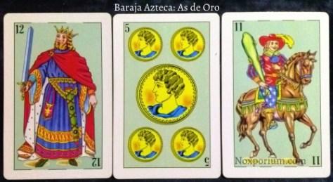 Baraja Española 48: 12 Espadas, 5 Oros, & 11 Bastos.