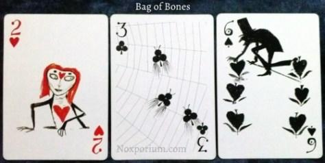Bag of Bones: 2 of Hearts, 3 of Clubs, & 6 of Spades.