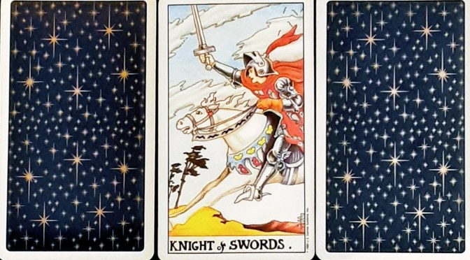 Universal Waite: Knight of Swords.