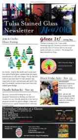 Tulsa Stained Glass - November Newsletter