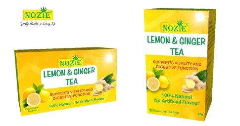 Natural Lemon Ginger Tea