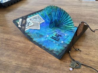 Peacock Card with ties