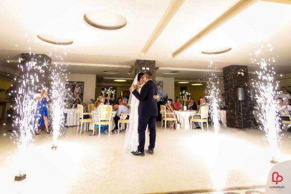 fuochi dartificio matrimonio primo ballo sposi