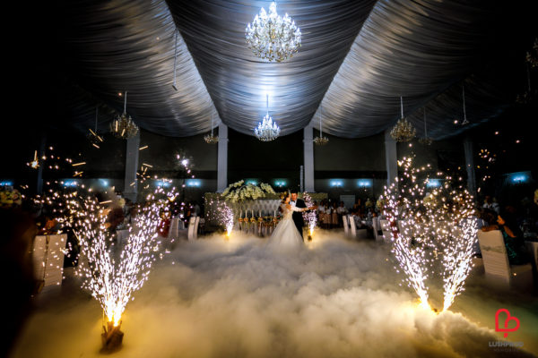 fuochi d'artificio matrimonio fumo pesante
