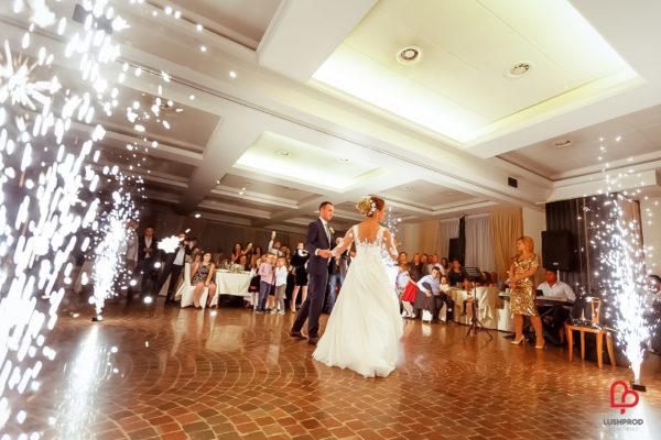 Fuochi d'artificio matrimonio ballo