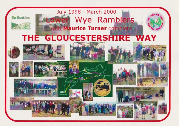 My certificate to show I have completed the Gloucestershire Way