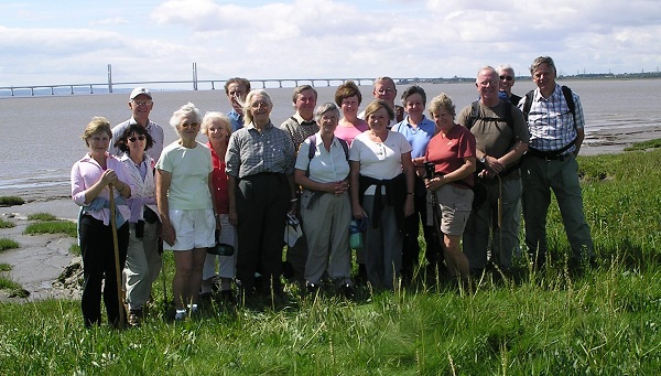 Group photograph at Beachely, the end of our Wye Valley Walk