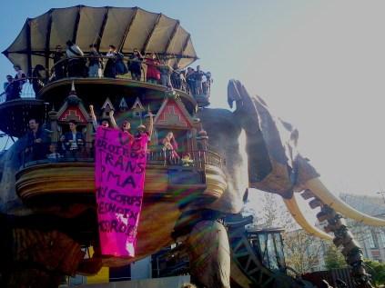 manifestation Nantes 8 mars 2014 droits des femmes éléphant