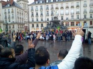 Nantes manifestation des Kurdes pour les résistants de Kobane en Syrie 2014-10-10 19.01.17