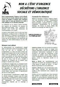 tract image npa état d'urgence Nantes saint nazaire