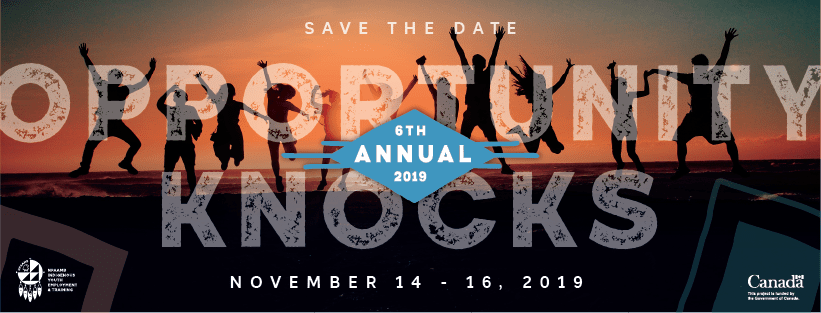 Save the Date! Opportunity Knocks November 14-16 2019