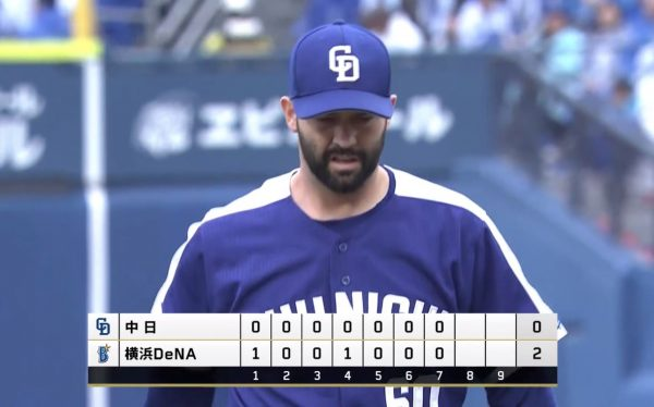 【悲報】中日・ジー、2試合連続完投HQS負け投手
