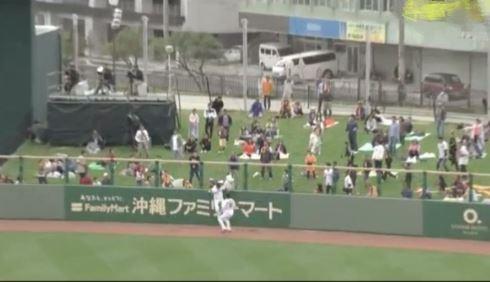 清宮のホームラン性の大飛球を丸が超ファインプレー!!!