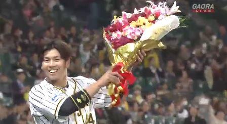 阪神・梅野隆太郎 .386(57-22) 1本 7打点 OPS.944 盗塁阻止率.545