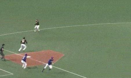 【GIF】中日・京田さんの走塁wwwwwwwwwwww