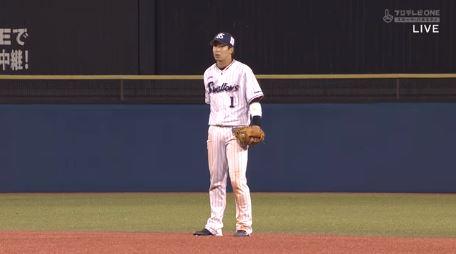 ヤクルト山田哲人(21) .283 3本 9盗塁