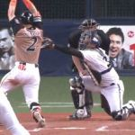【GIF】野球芸人・杉谷拳士さんのデッドボールアピールwwwwww