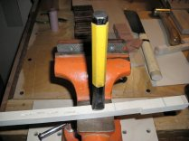 Key Mortise Punch undergoing test