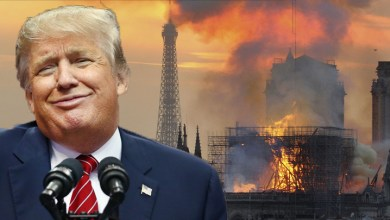 Photo of Trump is responsible for Notre Dame burning down, here's why