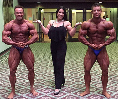 gina davis with some of her competitive athlete clients