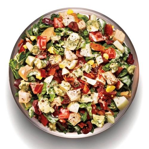 healthy spinach cobb salad recipe from npc oklahoma