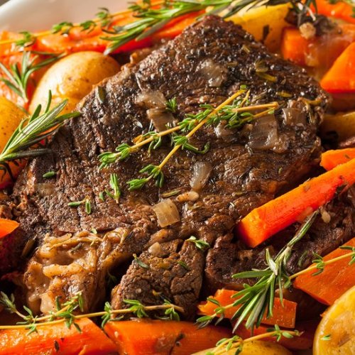 easy pot roast made in the crocpot