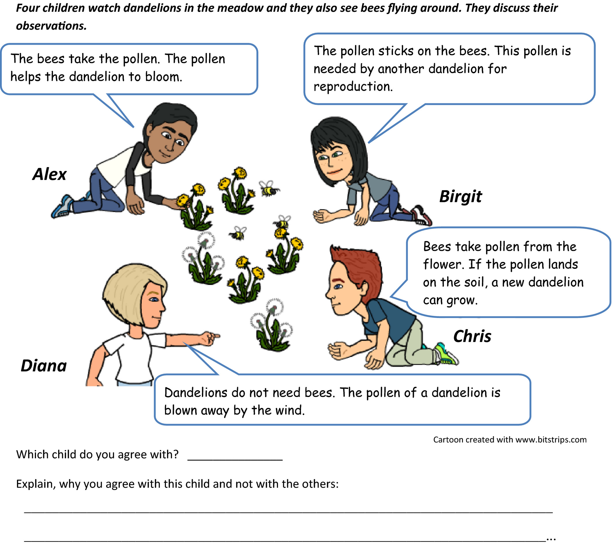Flower Parts And Pollination Worksheet Answers