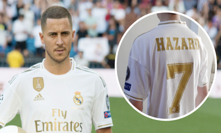 innovative design 55fa8 4a30f Real Madrid's number 7 jersey goes to Hazard - NP News24