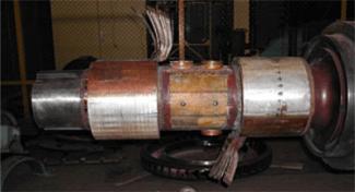 Замена контактных колец ротора ТВВ-800-2ЕУ3