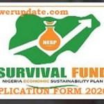 Survival Fund Loan Scheme Application Form 2020/2021 register here