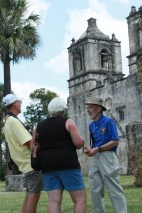 George Dawson answering questions at Mission Concepcion