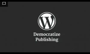 WordPress Democratize Publishing