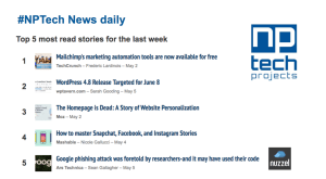 Top 5 most read stories NPTech News Daily via Nuzzel -May 2017
