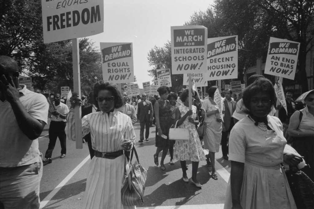Civil rights march on Washington, D.C. 1963