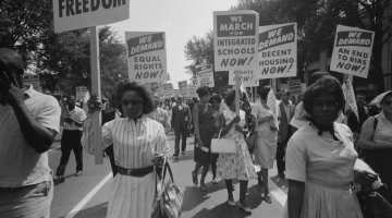 Civil rights march on Washington, D.C. 1963