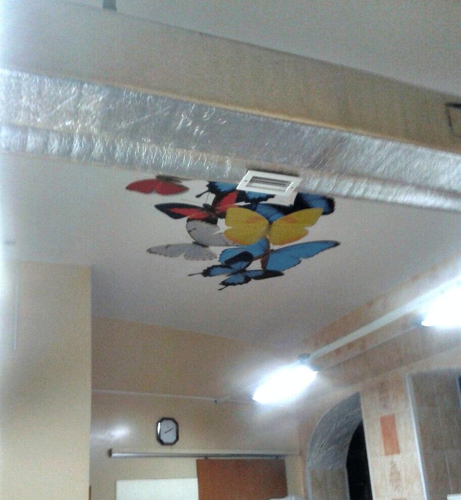 фотопечати на потолке у наших клиентов -бабочки3