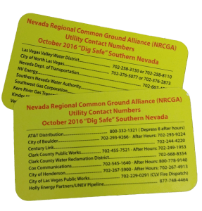 Utility Contact Cards