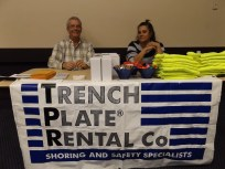 Trench Plate Rental's booth.