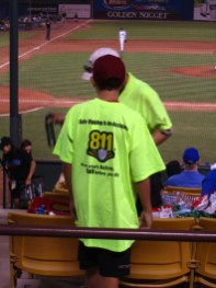 Another kid with a cool new 811 t-shirt.