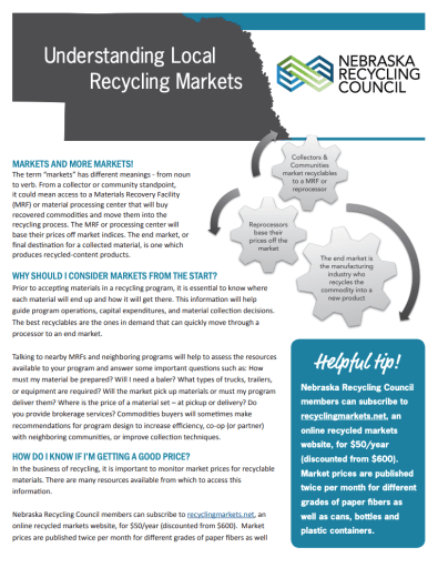 Understanding Local Recycling Markets