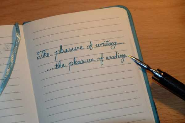 writing on page