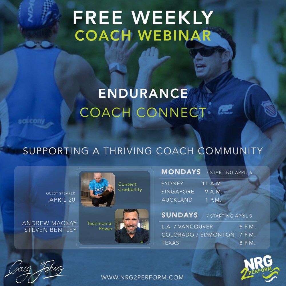 Endurance Coach Connect Webinar Craig Johns