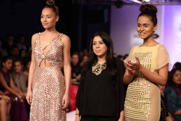 Veda Raheja's clothing range took it's cues from legendary architecture