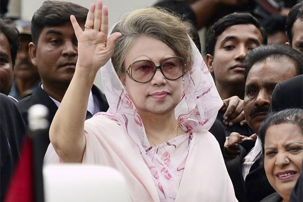 Khaleda Zia appears in court after 3 months; gets bail in two graft cases