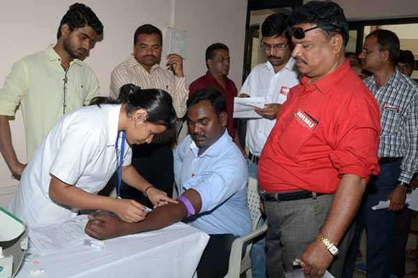 Rotary Club organized free health check-up camp for railway employs