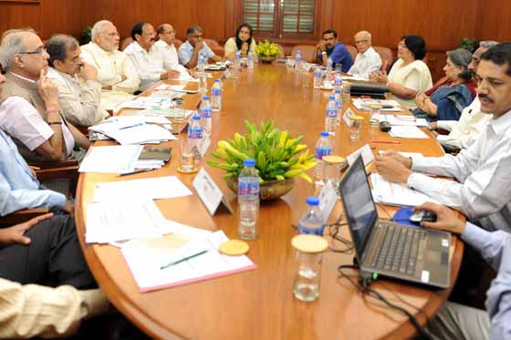 "PM reviews progress of ""Swachh Bharat Mission"""