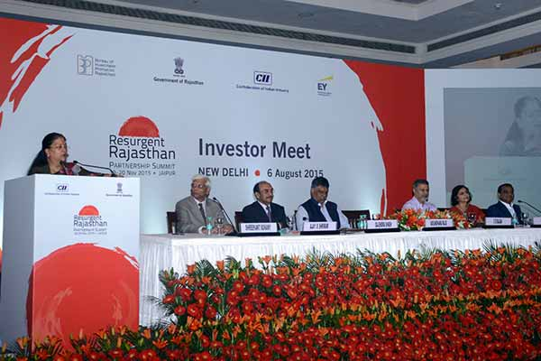 Rajasthan sees industry as means to inclusive growth: Vasundhara Raje