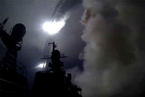 Russian warships in Caspian Sea fire cruise missiles into Syria